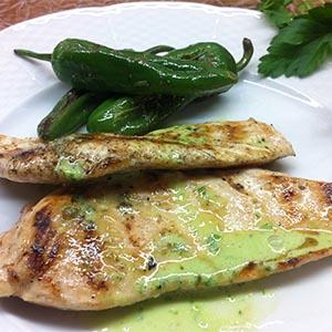 Pechuga de pollo con salsa verde