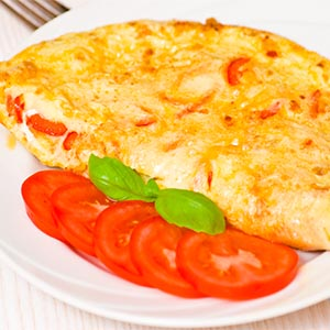 Tortilla de claras con tomate